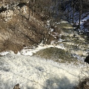 Stay clear of the melting snow and rushing rivers #backyardweather