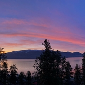 Okanagan Park Sunrise taken from our deck in Peachland,BC