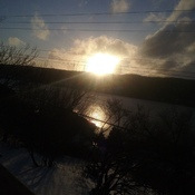 Going down of the sun on Riverhead Arm!