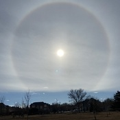 Rainbow Around Sun