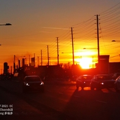 Gorgeous sunset in Thornhill - sunny day - March 7 2021