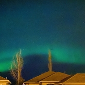 Saturday night northern lights
