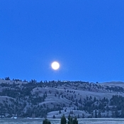 Full moon over Kamloops