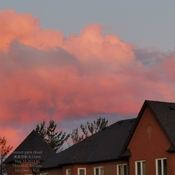 Beautiful sunset pink cloud 8:33pm 8C Thornhill - May 10 2021