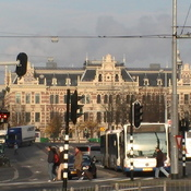 Central Station Square in Amsterdam