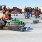 Snowmobile Ice Drags